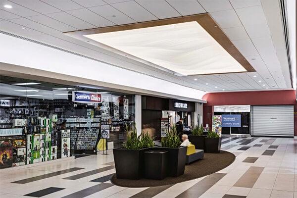 potolok-v-trc подвесной потолок в трц - 1 - Подвесные потолки в торгово-развлекательном центре