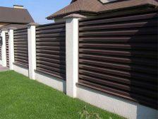 красивый забор - 1 3 224x168 - 40+ красивых идей Горизонтального забора