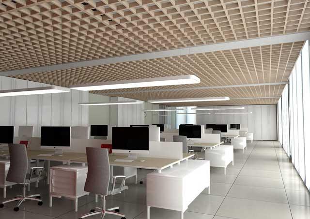 potolok-v-ofise-krasivye-foto потолок в офисе - 2 2 - 20 красивых решений отделки потолка для офиса