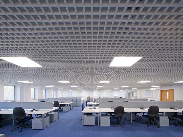 potolok-v-ofise-krasivye-foto потолок в офисе - 8 2 - 20 красивых решений отделки потолка для офиса
