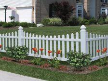 vinyl fencing decorative fence primrose scallop activeyards