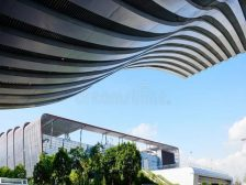 modern building roof structure commercial business steel ceiling 60156850