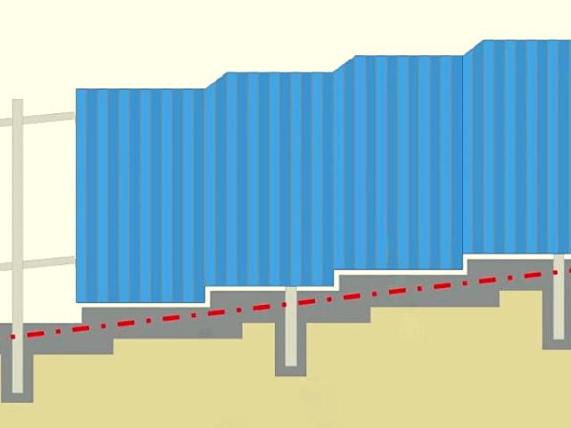 Zabor-na-sklone забор -  D1 81 D0 BA D0 BB D0 BE D0 BD 6 1 - Забор на склоне: как укрепить участок с помощью ограждения
