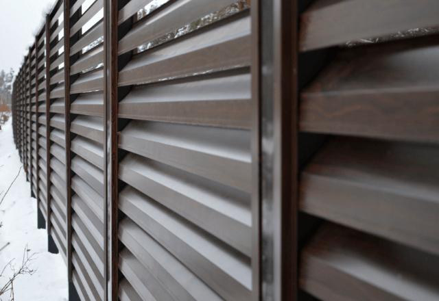 vidu-zaboa-zhaluzi забор - 4 1 - Виды заборов-жалюзи: важные особенности разных конструкций